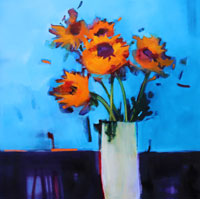 Paxton-Sunflowers-in-Vase-Oil-on-Canvas--92x92cm-SPW.jpg